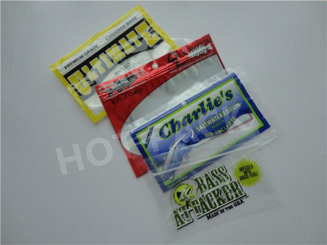 Factory Custom Printed Fishing Lure Bait Euro Slot Packaging Ziplock Bags